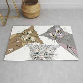 Triple Kitties - Three's Company Rug