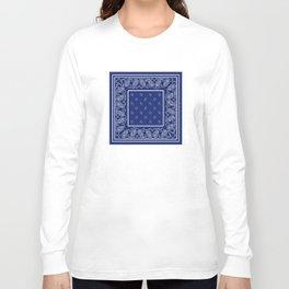 Classic Royal Blue Bandana Long Sleeve T-shirt