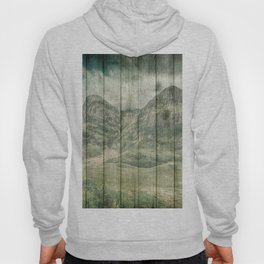 Rustic Country Wood Mountains Landscape Hoody