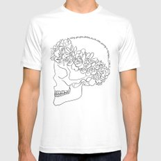 migraine Mens Fitted Tee LARGE White