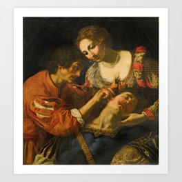 Jacopo Vignali (Pratovecchio 1592–1664 Florence) Samson and Dalila, Art Print