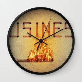 fired business Wall Clock
