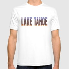 Lake Tahoe White MEDIUM Mens Fitted Tee