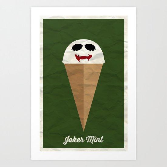 Joker Mint Art Print