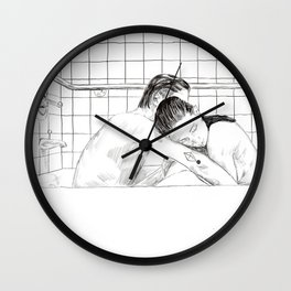 Couple embracing Wall Clock