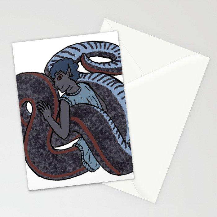 Sharp-tailed Snake-Boy Stationery Cards