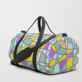 Stain Glass Abstract Meditation Easter Painting Duffle Bag