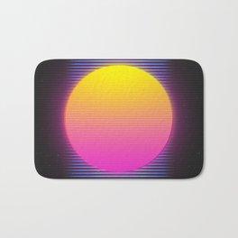 Retro 80's Neon Sunrise Bath Mat