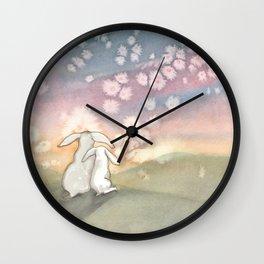 Sunset Fairies Wall Clock