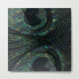 Abstract Peacock quill Digital Art Metal Print