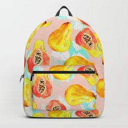 Watercolor pattern of papayas Backpack