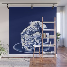 TEMPEST IN A TEACUP, HOKUSAI STYLE Wall Mural