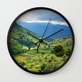 MOUNTAIN LANDSCAPE IN LAMDONG PROVINCE Wall Clock