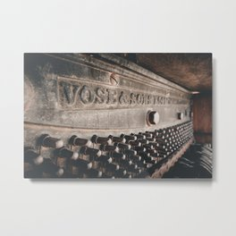 Old broken piano Metal Print