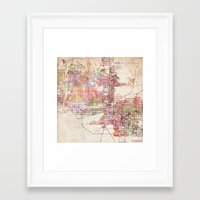 phoenix Framed Art Prints featuring Phoenix  by MapMapMaps.Watercolors
