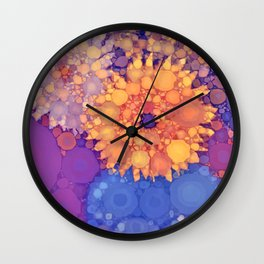 Vintage Flowers in the rain Wall Clock