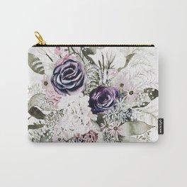Purple Bouquet Carry-All Pouch