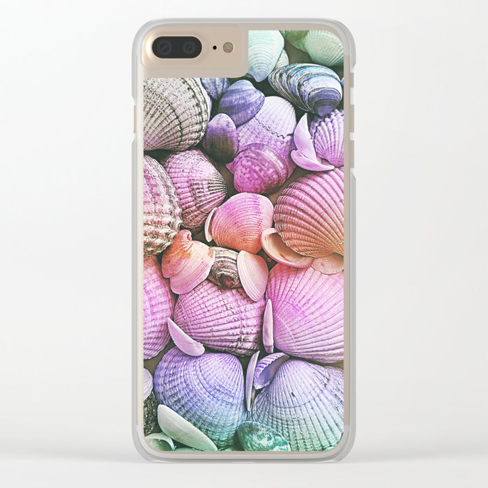 Vintage Candy Shells Clear iPhone Case