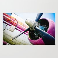 military Area & Throw Rugs featuring C160 Military Transport Airplane by Eye Shutter to Think Photography