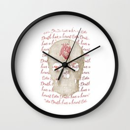 even death has a heart Wall Clock