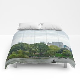 Sunday morning in Central Park NYC Comforters
