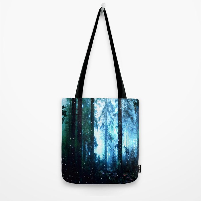 Fireflies Night Forest Tote Bag
