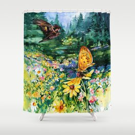 The Meadow by Kathy Morton Stanion Shower Curtain
