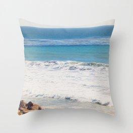 Malibu Blues Throw Pillow