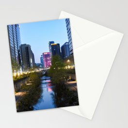 Stream at night Stationery Cards