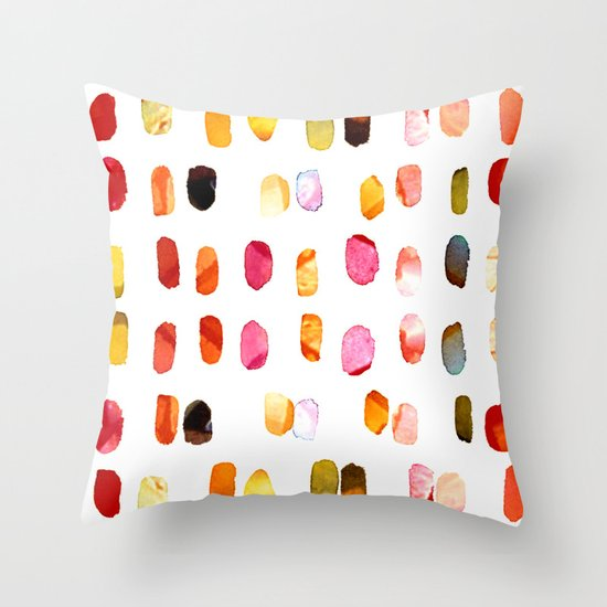 strokes of colors Throw Pillow