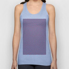 Modern pink blue geometric chevron pattern Unisex Tank Top