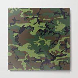 Woodland Camo pattern II Metal Print