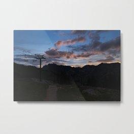 Sunset Hike in Albion Basin Metal Print