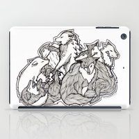 wolves iPad Cases featuring Wolves by Freja Friborg