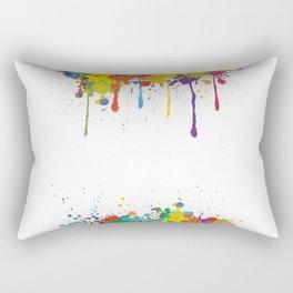 Paint Watercolor Splatter Rectangular Pillow