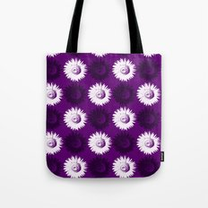 Sunflower black, white and purple Tote Bag