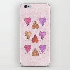 Hearts, love iPhone & iPod Skin
