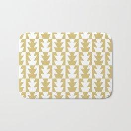 Art Deco Jagged Edge Pattern Gold Bath Mat