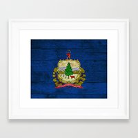 vermont Framed Art Prints featuring Vermont by C Liza B