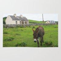 irish Area & Throw Rugs featuring Irish Cottage by Kim Ramage