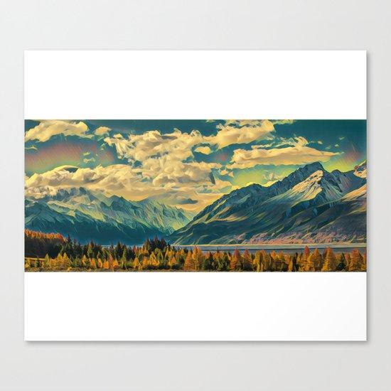 Cabin View Wilderness Canvas Print