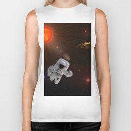 Astronaut Sun Stars Biker Tank