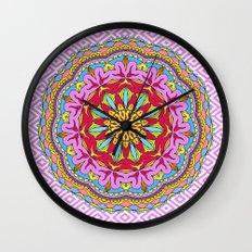 Mix&Match;  Pretty Pink Mandala Meditation pillow 02 Wall Clock