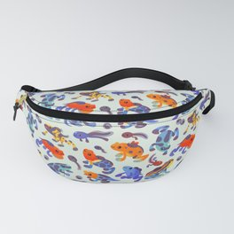 Poison dart frogs - bright Fanny Pack