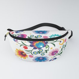 Beautiful Folk Composition on white Fanny Pack