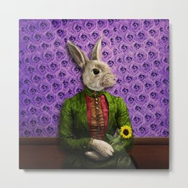 Miss Bunny Lapin in Repose Metal Print