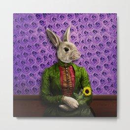Miss Bunny Lapin in Repose Metal Print
