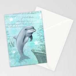 Happy Dolphin Stationery Cards