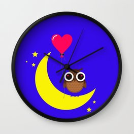 A lovers owl Wall Clock
