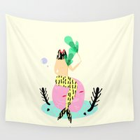 mermaid Wall Tapestries featuring mermaid by Alba Blázquez